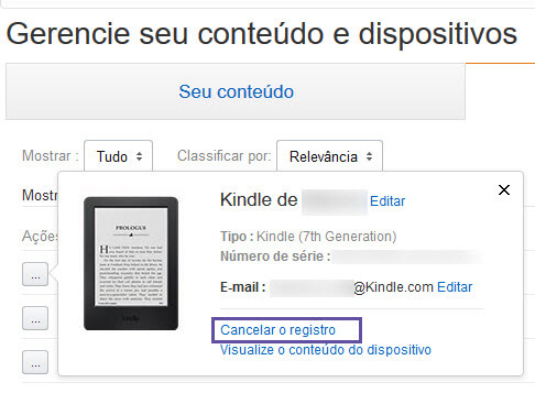 Kindle - Bloqueio