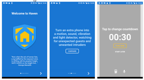 Haven - App Android - Snowden
