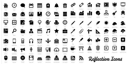 """200+ Exclusive Free Icons: """"Reflection"""