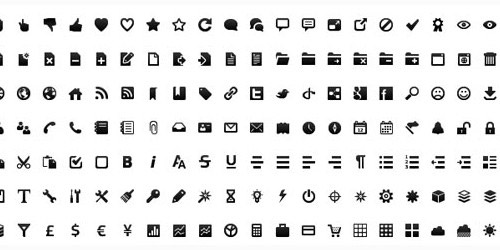 Free Wireframe Toolbar Icons for GUI designers