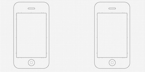 iPhone Application Sketch Template